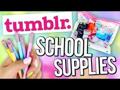 DIY INEXPENSIVE School Supplies you NEED to try! ♥ TUMBLR Style - YouTube
