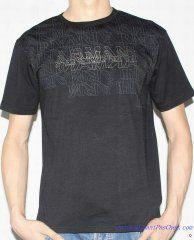 T-shirt à Manches Courtes Giorgio Armani Homme Pas Cher Noire