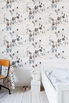 whimsical wallpaper in child's bedroom via fantastic frank. / sfgirlbybay