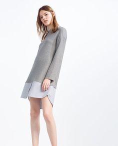 Zara kombiniertes kleid mit print