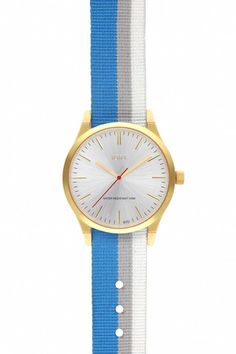 Brushed Silver Face with Bondi NATO Watch Band  #jdrt #silver #watches #NATO