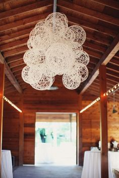 DIY (idea) - string laterns for rustic wedding | http://sweetpartygoods.blogspot.com