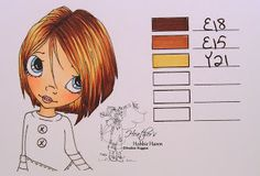 Hair Color 66 - Copic Markers... - Heathers Hobbie Haven
