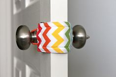 Door Jammer - allows you to open and close baby& door without making a sound. Keeps little ones from shutting themselves in the room. (a great gift for new moms. Baby Door, Rainbow Chevron, Shower Bebe, Gifts For New Moms, Everything Baby, Do It Yourself Home, Baby Time, Having A Baby, Our Baby