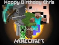 Minecraft Edible Cake Topper Decoration by EdibleCakeSupplies, $8.00