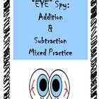 Just in time for Halloween! This cute 'eye spy' game will have kids eyeballs poppin' as they read the room and solve the addition/subtraction facts...