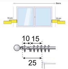 Medidas de varão para cortina