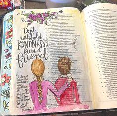 Job 6:14. Bible art journaling by @patjournals