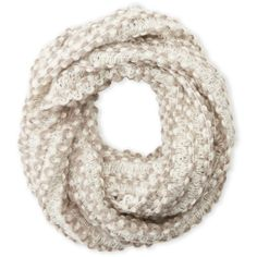 Cejon Braided Knit Infinity Scarf ($15) ❤ liked on Polyvore featuring accessories, scarves and ivory