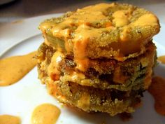 Fried Green Tomatoes with Red Pepper Aioli | One Green Planet