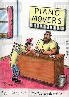 Haha funny piano movers
