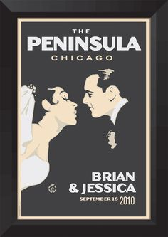 Vintage wedding poster...customized with your personal wedding details
