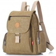 Leisure Thick Canvas Retro Unisex Flap School Bag Travel Backpacks