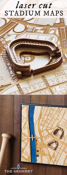 Merge art and fandom in a Made in the USA, laser cut map of Baltic Birch wood. See your favorite sports stadium and its surrounding neighborhood from a bird's-eye view. Great gift for sports fans.