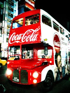 English Double Decker (coca cola bus)