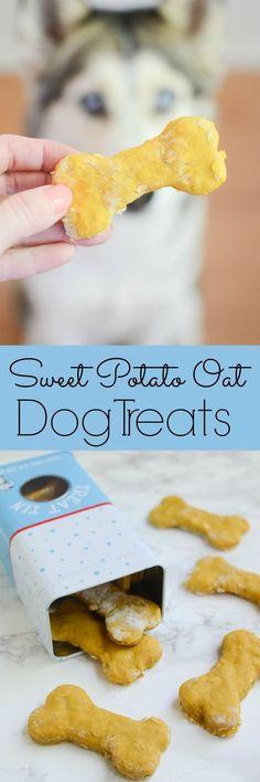 Homemade Sweet Potato Oat Dog Treats - your pup will love these nutritious treats!