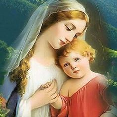 (23) Home / Twitter Blessed Mother Mary, Blessed Virgin Mary, Images Of Mary, Jesus Christ Images, Christian Images, Queen Of Heaven, Religious Pictures, Mary And Jesus, God Jesus