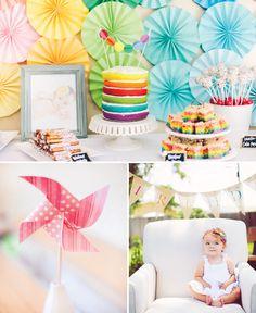 Whimsical Backyard Rainbow First birthday