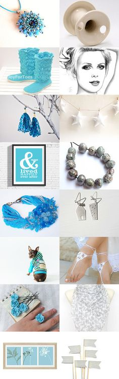 Blue and white by Andrea Macsek on Etsy--Pinned with TreasuryPin.com