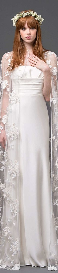 Capes and cloaks - Alberta Ferretti Collection Spring 2015 Bridal.