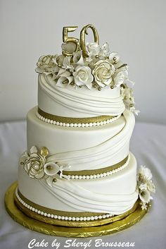 fiftieth anniversary cakes - Google Search