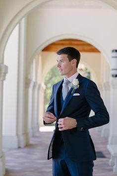 Three piece groom look