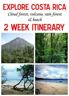 Going to Costa Rica for 2 weeks? Here is a sample itinerary to experience the best the country has to offer: Arenal Volcano, Santa Teresa/Mal Pais beaches, Monteverde cloud forest and Playas del Coco mytanfeet.com/...