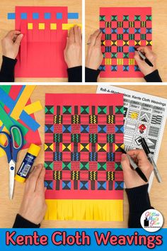 Kente cloth paper weaving
