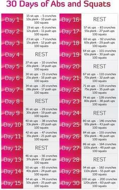 30 Days of Abs and Squats challenge