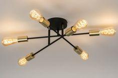 artikel 12215 Artistieke plafondlamp voorzien van drie draaibare elementen. Met deze hanglamp kunt u uw eigen creativiteit vorm geven. De drie elementen zijn draaibaar. Hierdoor kunt u de lichtbronnen op diverse manieren van positie veranderen Ceiling Lights, Retro, Lighting, Design Ideas, Modern, Home Decor, Houses, Infinity Symbol, Trendy Tree