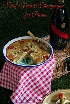 Hot & Chilli | food and travel blog: Picnic, Crab Flan and Champagne