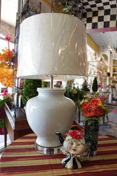 #lamps #lamp #vase #stripes #courtlycheck #ohkays #mcallen #rgv #boutique