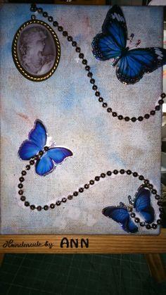 Butterfly in canvas board