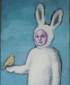"""""""Hasenherz kleiner Freund"""" Acryl auf Leinwand von Marion Ruhrberg / auf meine ART... auf DaWanda.com"""