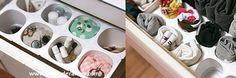 ECO-IDEAS Y RECICLAJE : Organizador con envases de Yogurt.