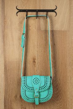 Mint Cross-Body purse.