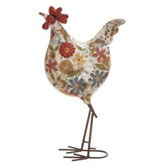 Another great find on White Floral Rooster Garden Statue Decorative Objects, Decorative Accessories, Rooster Statue, Bohemian Theme, Rooster Decor, Rooster Art, Chickens And Roosters, Galo, Garden Statues