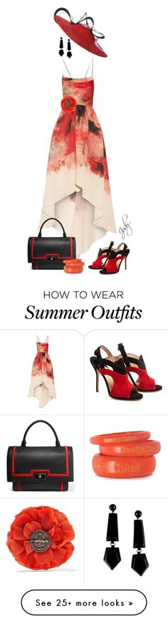 "Collection Of Summer Styles    ""Summer's Last Outfit"" by judymjohnson on Polyvore featuring Lela Rose, Givenchy, Paul Andrew, Emporio Armani, See by Chloé and Gucci    - #Outfits"