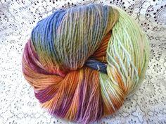 Handpainted Wool Yarn Worsted Weight from Little by MyrrhwoodFarm