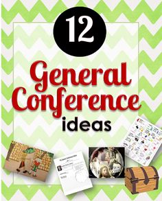 These are fun ideas for General Conference! (Treasure hunt idea sounds like something my kids might like!)