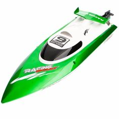 New Feilun FT009 4 Channel 2.4GHz Water Cooling High Speed Racing RC Boat Green #Feilun