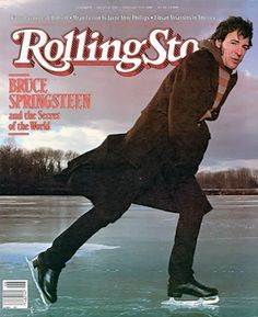 Bruce Springsteen shows off his impeccable ice skating form on the February 5, 1981 cover. #longreads