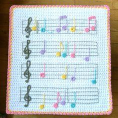 debbieredman's Musical crochet blanket