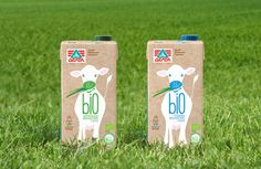 Delta Bio Organic Milk branding and packaging design. Designed by: Spyros Doukas, Greece.
