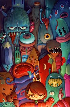 The Army of Me by Maria Tiurina, via Behance #design #character