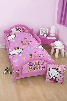 4 in 1 #hello #kitty folk character junior cot bed bundle to fit #toddler bed,  View more on the LINK: 	http://www.zeppy.io/product/gb/2/171025202984/