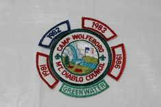 Camp Wolfeboro Mt. Diablo Council Scout Camp Patch Greenwater 1981 - 1983 1986