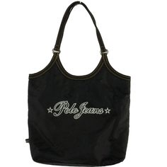 Ralph Lauren Polo Jeans Womens Black Purse Tote Small  #RalphLaurenPoloJeans #Tote