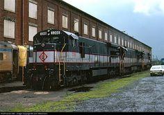 RailPictures.Net Photo: 3366 Erie Lackawanna GE U34CH at Elizabethport, New Jersey by John Wiesmann