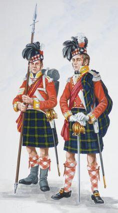 ORIG-MILITARY-PAINTING-25-92ND-GORDON-HIGHLANDERS-1815-FREE-SHIPPING